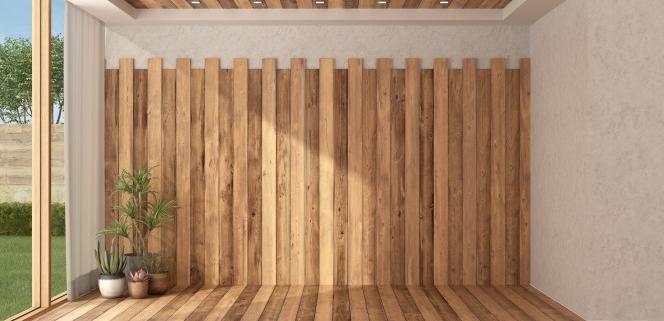 Coût d'un revêtement mural en bois